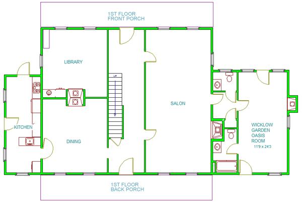 Bellamy Manor floor plan level 1