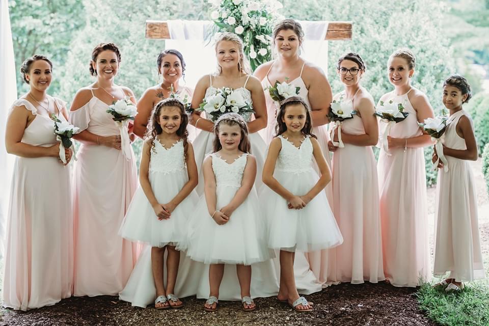 Soft romantic wedding at Bellamy Manor and Gardens NC